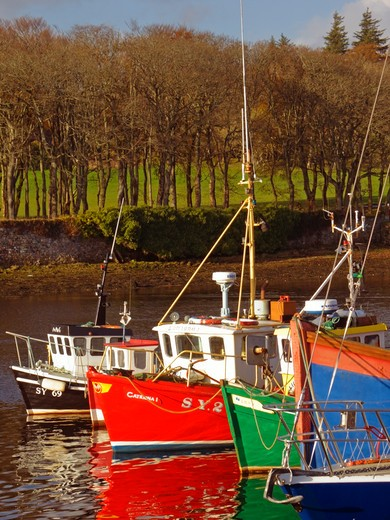 Cromwell Street Quay, Stornoway Harbour, Stornoway, Isle Of Lewes, Outer Hebrides : Stock Photo