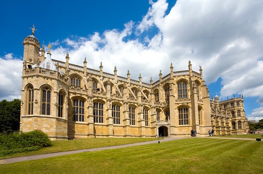 St. Georges Chapel at Windsor Castle. England. : Stock Photo