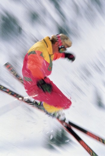 Skiing at Alta in Utah near Salt Lake City. : Stock Photo