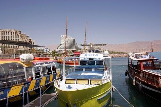 Eilat , Main Tourist Harbour Area : Stock Photo
