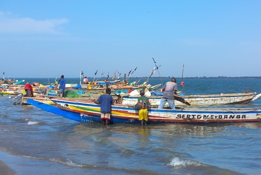 Stock Photo: 1840-30113 Banjul,  Fishing Boats