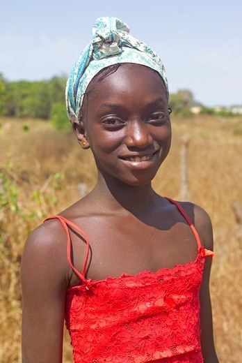 Young Gambian Girl : Stock Photo