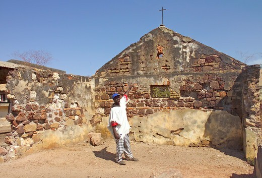 Stock Photo: 1840-30139 Albreda,  The Oldest Chapel In West Africa