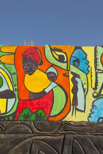 Stock Photo: 1840-30176 Gambia, Wall Mural