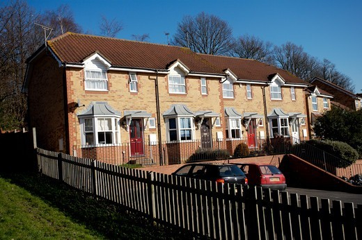 Stock Photo: 1840-30673 Housing Estate, UK Houses