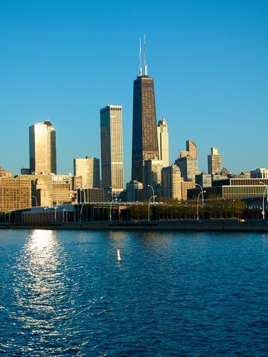 Stock Photo: 1840-30761 Hancock Tower View From Navy Pier