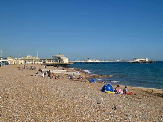 Stock Photo: 1840-31040 Worthing Beach