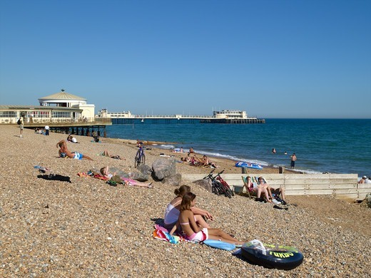 Worthing Beach : Stock Photo