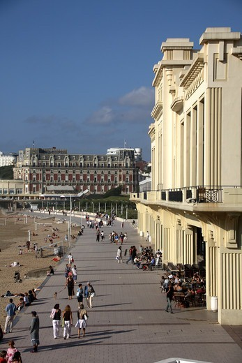 Stock Photo: 1840-31065 Casino Biarritz, Grand Plage & Hotel du Palais