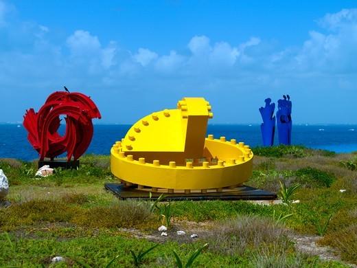 Isla Mujeres, Art Exhibition : Stock Photo