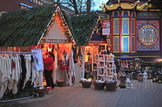 Stock Photo: 1840-31475 Copenhagen, Tivoli Christmas Market