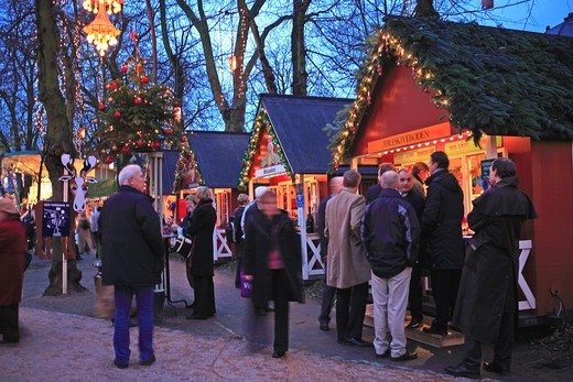 Stock Photo: 1840-31478 Copenhagen, Tivoli Christmas Market