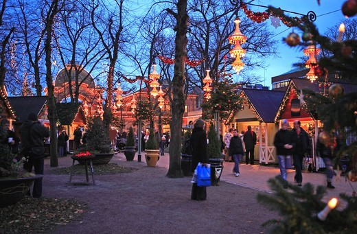 Tivoli Christmas Market, Copenhagen : Stock Photo