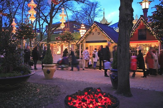 Stock Photo: 1840-31480 Copenhagen, Tivoli Christmas Market