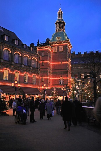 Stock Photo: 1840-31481 Copenhagen, Tivoli Christmas Market