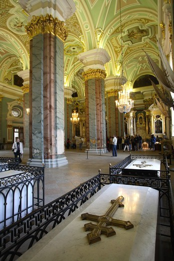 Stock Photo: 1840-31693 Tombs In SS Peter & Paul Cathedral