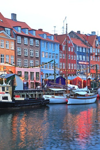 Stock Photo: 1840-31755 Nyhavn, Christmas Market, Copenhagen