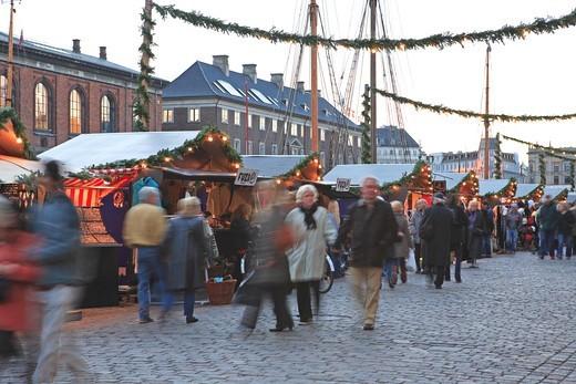 Stock Photo: 1840-31783 Nyhavn, Christmas Market, Copenhagen