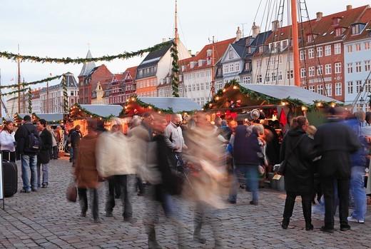 Stock Photo: 1840-31784 Nyhavn, Christmas Market, Copenhagen