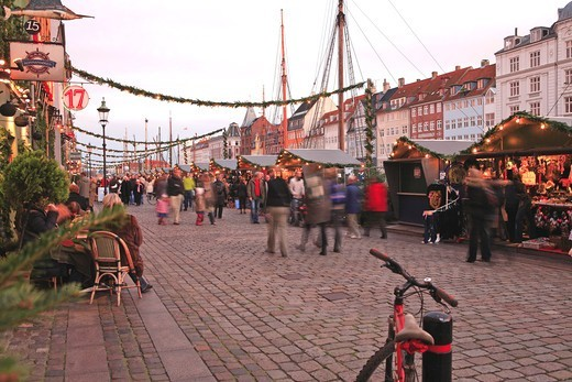 Stock Photo: 1840-31786 Nyhavn, Christmas Market, Copenhagen