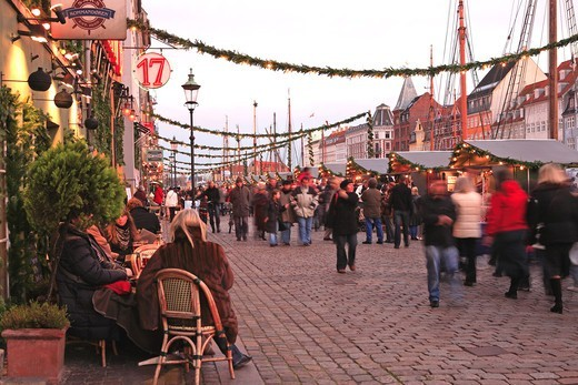 Stock Photo: 1840-31787 Nyhavn, Christmas Market, Copenhagen
