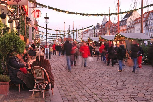 Stock Photo: 1840-31788 Nyhavn, Christmas Market, Copenhagen