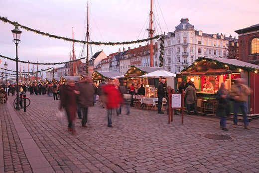 Stock Photo: 1840-31789 Nyhavn, Christmas Market, Copenhagen