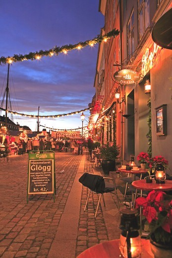 Stock Photo: 1840-31804 Nyhavn, Christmas Market, Copenhagen