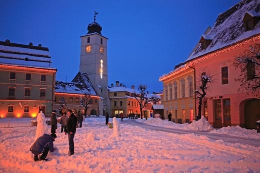 Stock Photo: 1840-31991 Councillor's Tower, Piata Mare, Sibiu