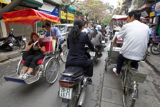 Hanoi Street Scene : Stock Photo