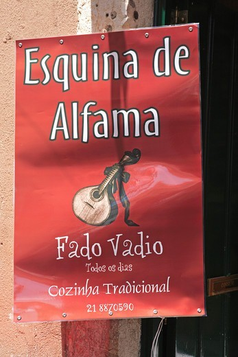 Stock Photo: 1840-32614 Portugal, Lisbon, Alfama, Fado Poster