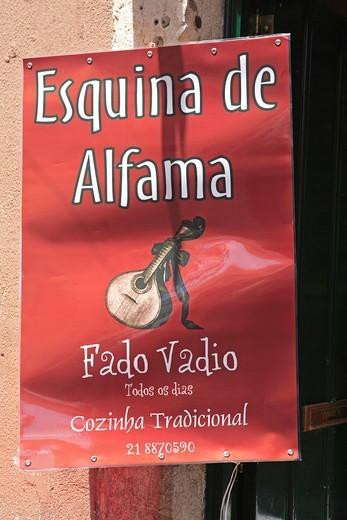 Portugal, Lisbon, Alfama, Fado Poster : Stock Photo