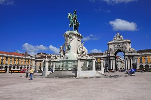 Stock Photo: 1840-32726 Lisbon, Praco Do Comercio