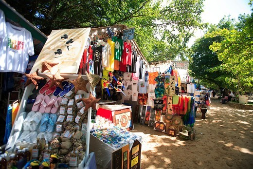 Stock Photo: 1840-33433 Sosua, A Stall In The Market Place