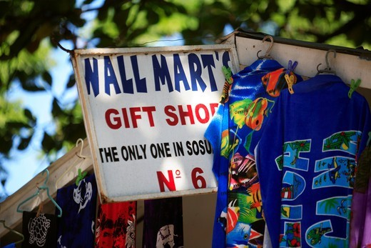 Stock Photo: 1840-33440 Sosua, A Stall In The Market Place