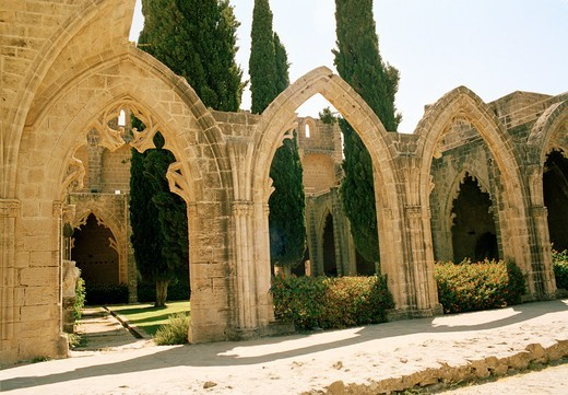 Stock Photo: 1840-34246 Northern Cyprus, Kyrenia,  Bellapais Abbey
