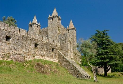 Stock Photo: 1840-34264 Portugal, The Costa Verde, Santa Maria Da Feira Medieval Castle Near Oporto