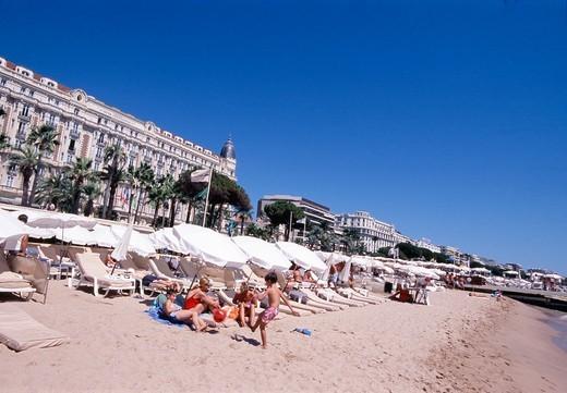Cannes, Plage de la Croisette : Stock Photo