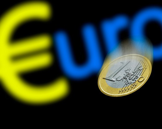 Financial, Currency, Euro : Stock Photo