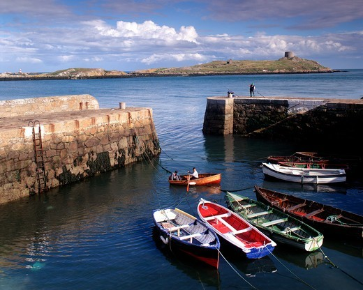 County Dublin, Coliemore Harbour At Dalkey : Stock Photo