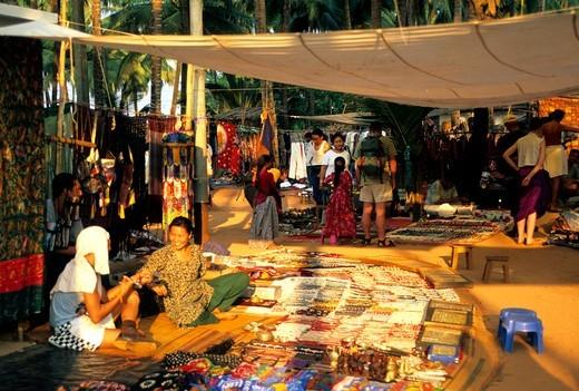 North Goa Anjuna Market : Stock Photo