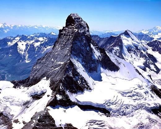 Stock Photo: 1840-36489 The Matterhorn From The Air