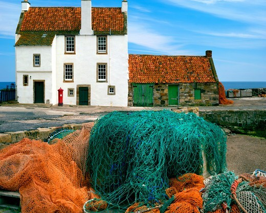 Stock Photo: 1840-36704 Cottage At Pittenweem Harbour