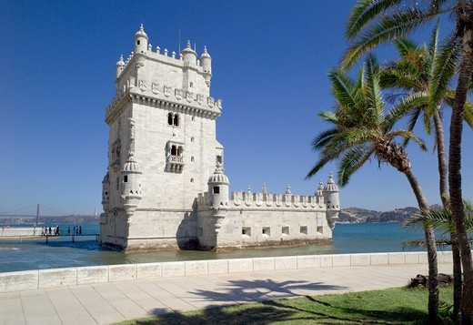 Stock Photo: 1840-36732 Portugal, Lisbon, Belem, The Tower Of Belem