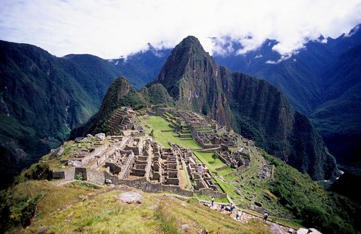 Peru, The Inca Ruins Of Machu Picchu : Stock Photo
