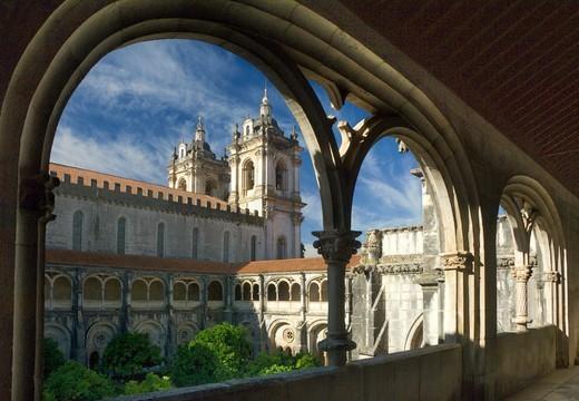 Stock Photo: 1840-37809 Santa Maria De Alcobaca Monastery