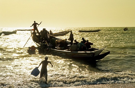 Stock Photo: 1840-37875 Gambia, Fishing Boat