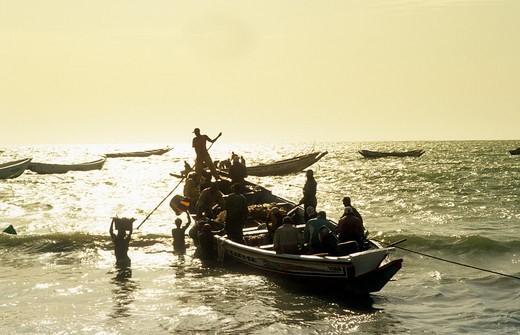 Stock Photo: 1840-37876 Gambia, Fishing Boat
