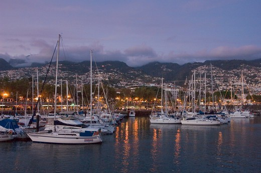 Harbour Front Of Funchal, Yachts In The Marina : Stock Photo