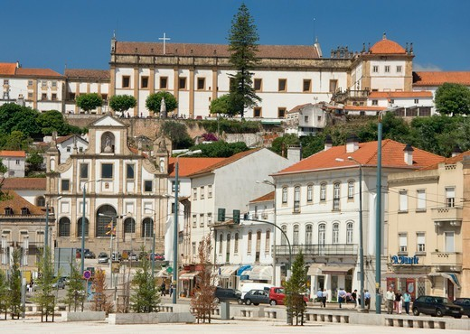 Stock Photo: 1840-38016 Estremadura, The Santa Clara District Of Coimbra, With The 17th Century Monastery Of Santa Clara